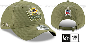 Redskins 2019 SALUTE-TO-SERVICE STRAPBACK Olive Hat by New Era