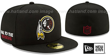 Redskins 2020 NFL VIRTUAL DRAFT Black Fitted Hat by New Era