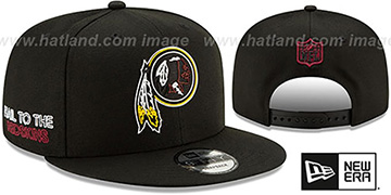Redskins 2020 NFL VIRTUAL DRAFT SNAPBACK Black Hat by New Era