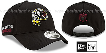 Redskins 2020 NFL VIRTUAL DRAFT STRETCH-SNAP Black Hat by New Era