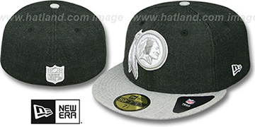 Redskins '2T-HEATHER ACTION' Charcoal-Grey Fitted Hat by New Era