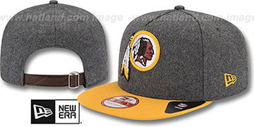Redskins '2T MELTON A-FRAME STRAPBACK' Hat by New Era