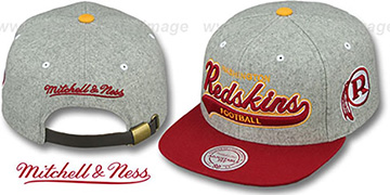 Redskins '2T TAILSWEEPER STRAPBACK' Grey-Burgundy Hat by Mitchell and Ness