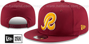 Redskins ALTERNATE TEAM-BASIC SNAPBACK Burgundy Hat by New Era