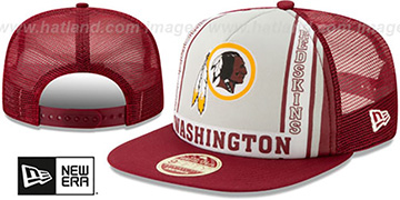Redskins BANNER FOAM TRUCKER SNAPBACK Hat by New Era