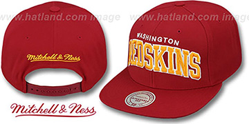 Redskins 'BLOCK-ARCH SNAPBACK' Burgundy Hat by Mitchell & Ness