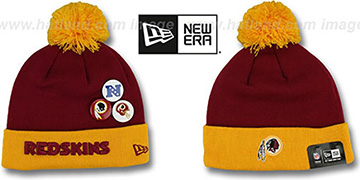 Redskins BUTTON-UP Knit Beanie Hat by New Era