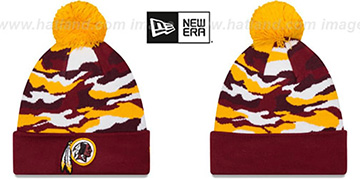 Redskins CAMO CAPTIVATE Knit Beanie Hat by New Era