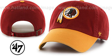 Redskins 'CLEAN-UP STRAPBACK' Burgundy-Gold Hat by Twins 47 Brand