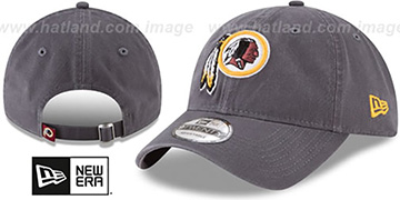 Redskins CORE-CLASSIC STRAPBACK Charcoal Hat by New Era