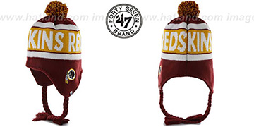 Redskins 'CRANBROOK' Knit Beanie Hat by Twins 47 Brand
