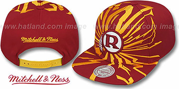 Redskins 'EARTHQUAKE SNAPBACK' Burgundy Hat by Mitchell and Ness