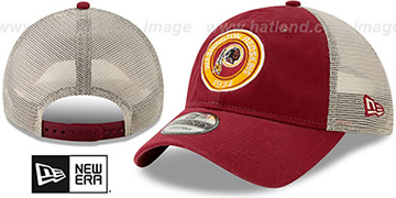 Redskins ESTABLISHED CIRCLE TRUCKER SNAPBACK Hat by New Era