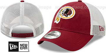 Redskins FRAYED LOGO TRUCKER SNAPBACK Hat by New Era