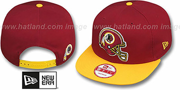 Redskins 'GOAL LINE SNAPBACK' Burgundy-Gold Adjustable Hat by New Era
