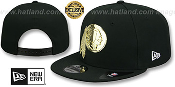 Redskins 'GOLD METAL-BADGE SNAPBACK' Black Hat by New Era