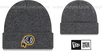 Redskins HEATHERED-SPEC Grey Knit Beanie Hat by New Era