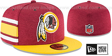 Redskins 'HOME ONFIELD STADIUM' Burgundy-Gold Fitted Hat by New Era
