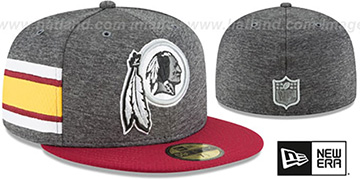 Redskins 'HOME ONFIELD STADIUM' Charcoal-Burgundy Fitted Hat by New Era