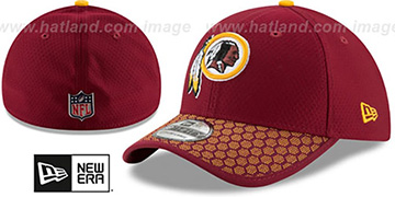 Redskins HONEYCOMB STADIUM FLEX Burgundy Hat by New Era
