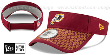 Redskins 'HONEYCOMB STADIUM VISOR' Burgundy by New Era