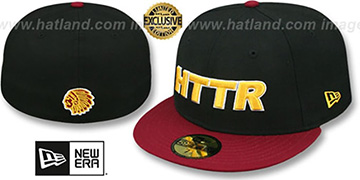 Redskins 'HTTR' Black-Burgundy Fitted Hat by New Era