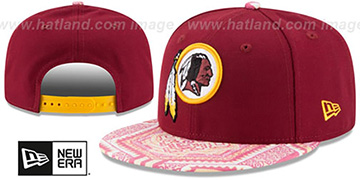Redskins 'KALEIDOVIZE SNAPBACK' Burgundy Hat by New Era