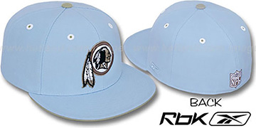 Redskins 'KOLORS' Light Blue Fitted Hat by Reebok