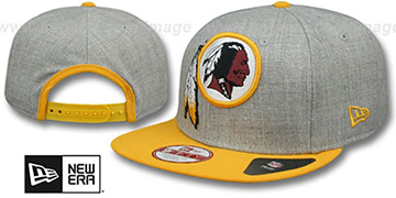 Redskins 'LOGO GRAND SNAPBACK' Grey-Gold Hat by New Era