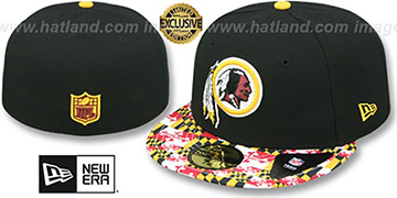 Redskins MARYLAND-FLAG Black Fitted Hat by New Era
