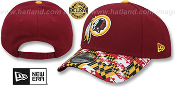 Redskins MARYLAND-FLAG LC 940 Burgundy Hat by New Era