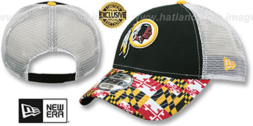 Redskins MARYLAND-FLAG LC 940 MESHBACK Black-White Hat by New Era
