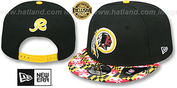 Redskins 'MARYLAND-FLAG SNAPBACK' Black Hat by New Era