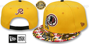 Redskins MARYLAND-FLAG SNAPBACK Gold Hat by New Era