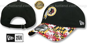Redskins 'MARYLAND-FLAG STRAPBACK' Black Hat by New Era
