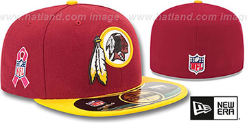 Redskins 'NFL BCA' Burgundy-Gold Fitted Hat by New Era
