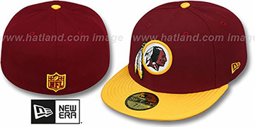 Redskins 'NFL JERSEY-BASIC' Burgundy-Gold Fitted Hat by New Era