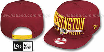 Redskins 'NFL LATERAL SNAPBACK' Burgundy Hat by New Era