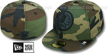 Redskins NFL 'MIGHTY-XL' Army Camo Fitted Hat by New Era
