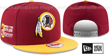 Redskins 'NFL STAR-TRIM SNAPBACK' Burgundy-Gold Hat by New Era