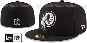 Redskins NFL TEAM-BASIC Black-White Fitted Hat by New Era