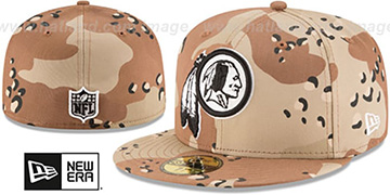Redskins 'NFL TEAM-BASIC' Desert Storm Camo Fitted Hat by New Era