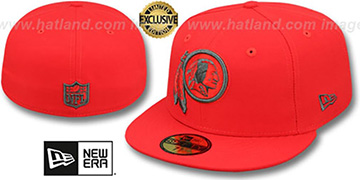 Redskins 'NFL TEAM-BASIC' Fire Red-Charcoal Fitted Hat by New Era