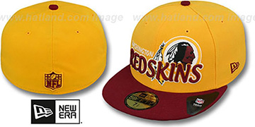 Redskins NFL-TIGHT Gold-Burgundy Fitted Hat by New Era