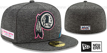 Redskins ONFIELD CRUCIAL CATCH Grey Fitted Hat by New Era
