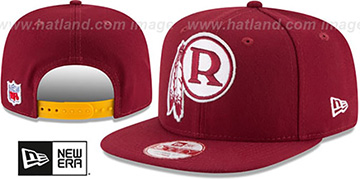 Redskins 'RETRO-BASIC SNAPBACK' Burgundy Hat by New Era