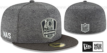 Redskins 'ROAD ONFIELD STADIUM' Charcoal-Black Fitted Hat by New Era