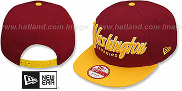 Redskins 'SNAP-IT-BACK SNAPBACK' Burgundy-Gold Hat by New Era