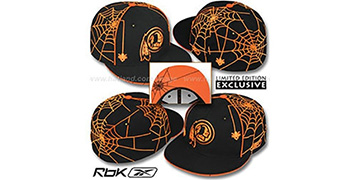 Redskins SPIDERWEB Black Fitted Hat by Reebok