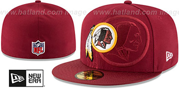 Redskins 'STADIUM SHADOW' Burgundy Fitted Hat by New Era